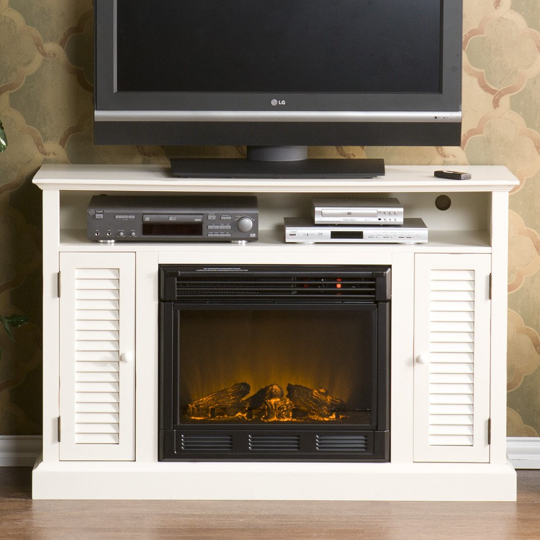 Wildon Home ® Fox 50″ TV Stand with Electric Fireplace