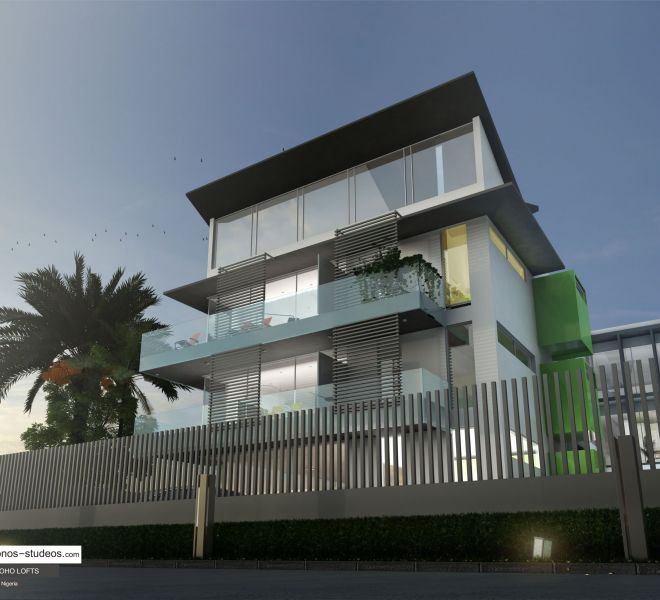 Chronos studeos Best 3D rendering company in Lagos Architecture Design for 5LY Soho Lofts Apartments Design Lekki Lagos (15)