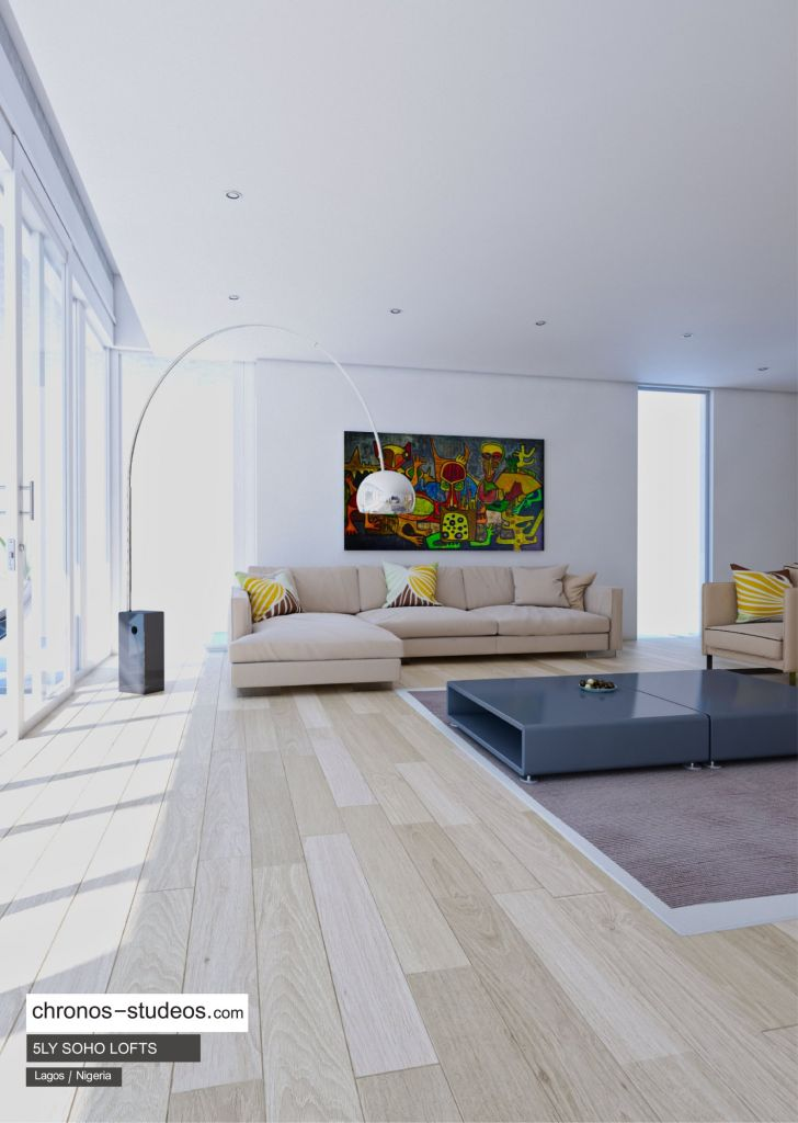 IMAGE: 5LY Soho Loft living room render by Chronos Studeos
