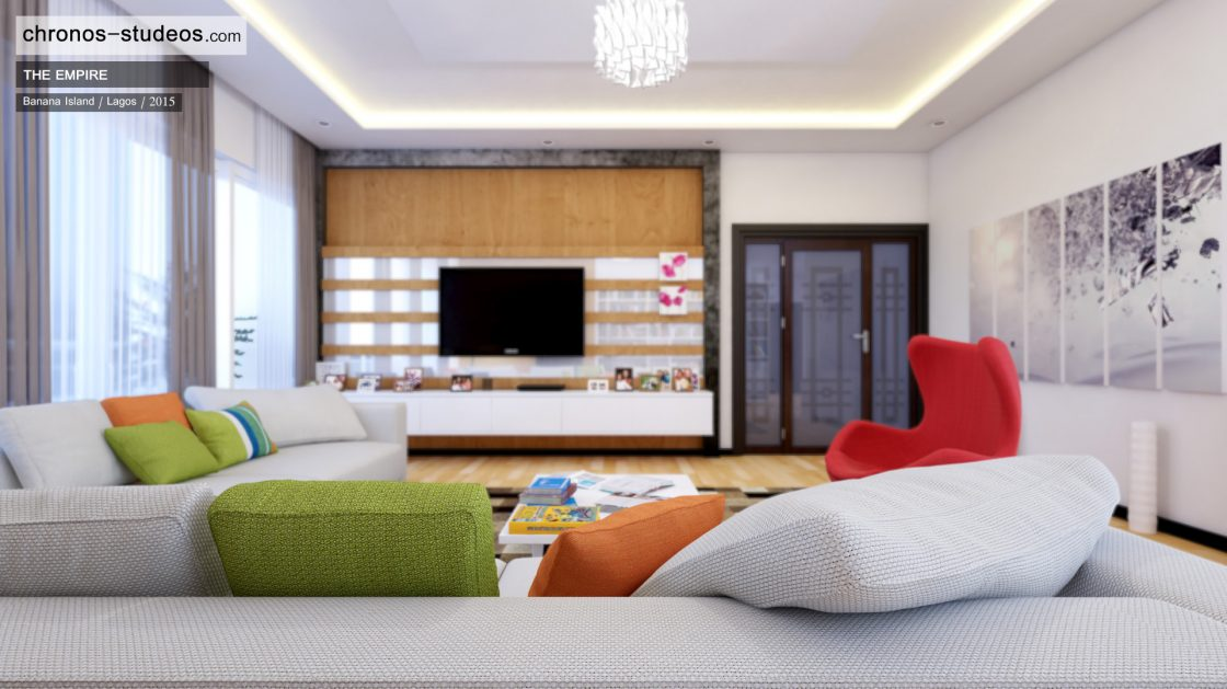 Living room design by chronos studeos architects 4