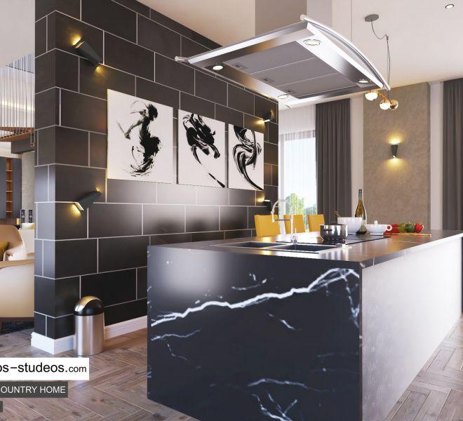 Kitchen Island Design for modern contemporary home idea in Lagos (1)