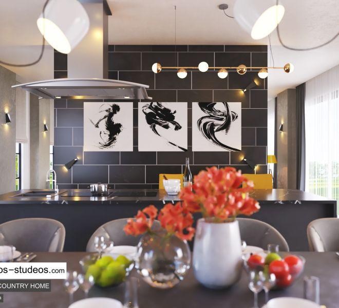 Kitchen Island Design for modern contemporary home idea in Lagos (2)