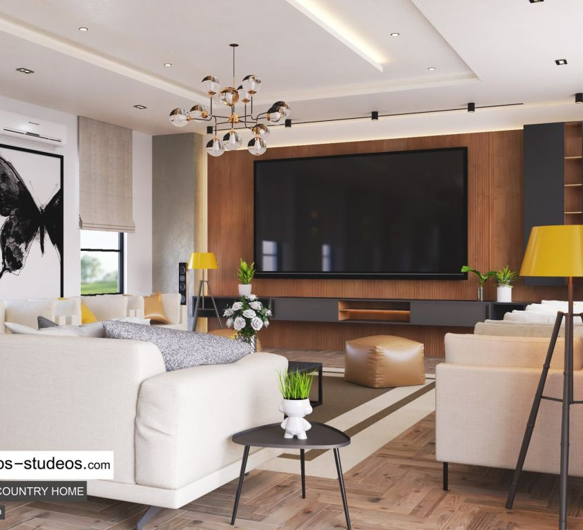 Living room design idea in Nigeria Abuja Port Harcourt Lagos Architect (3)