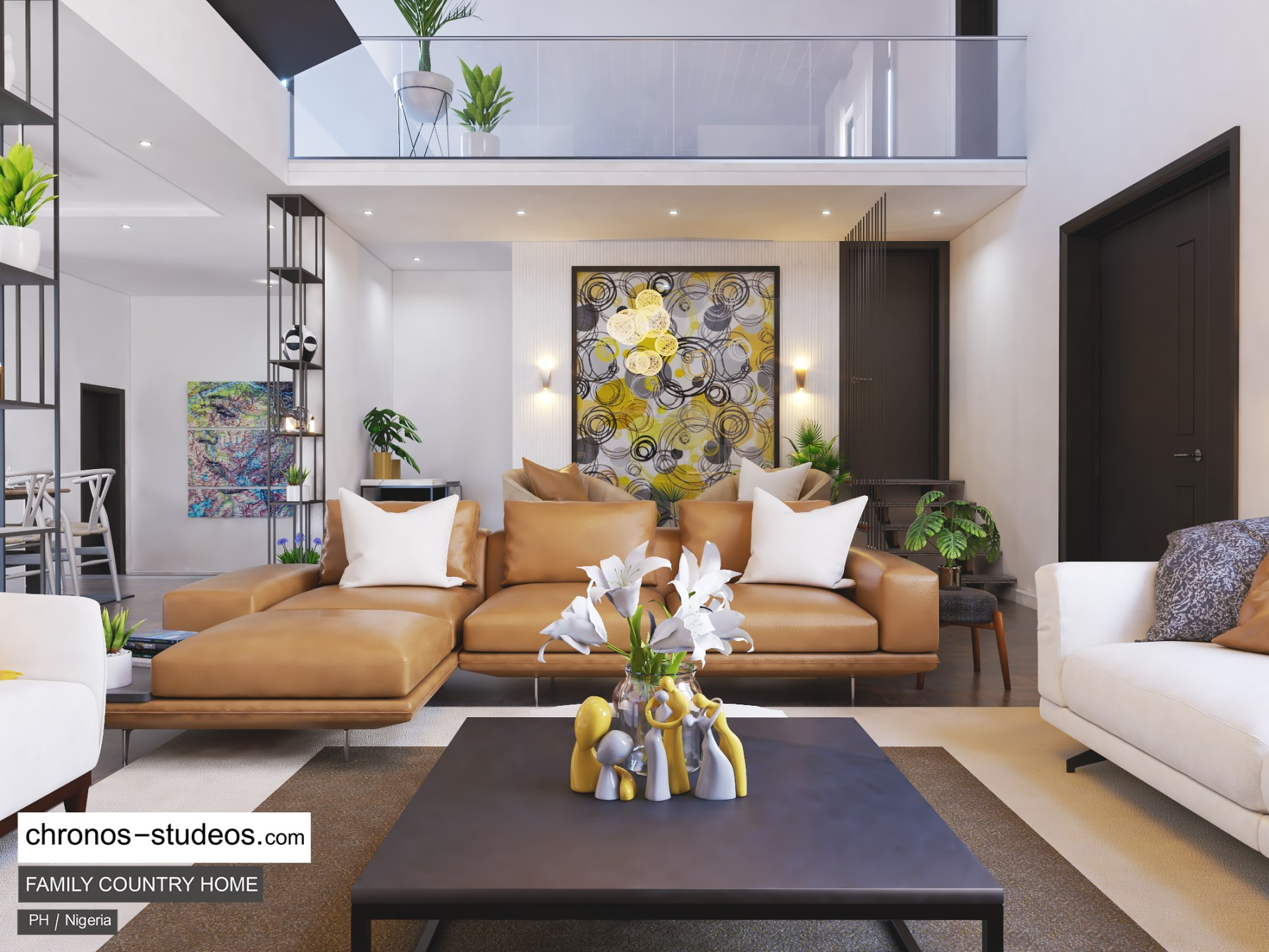 Living room design by chronos studeos architects 2