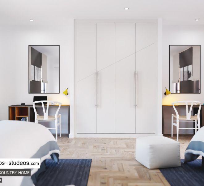 bedroom interior design idea with private bath Chronos Studeos (1)