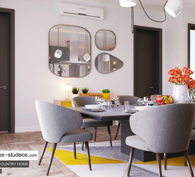 dining room area design by Chronos Studeos Architects interior designer in Lagos (1)