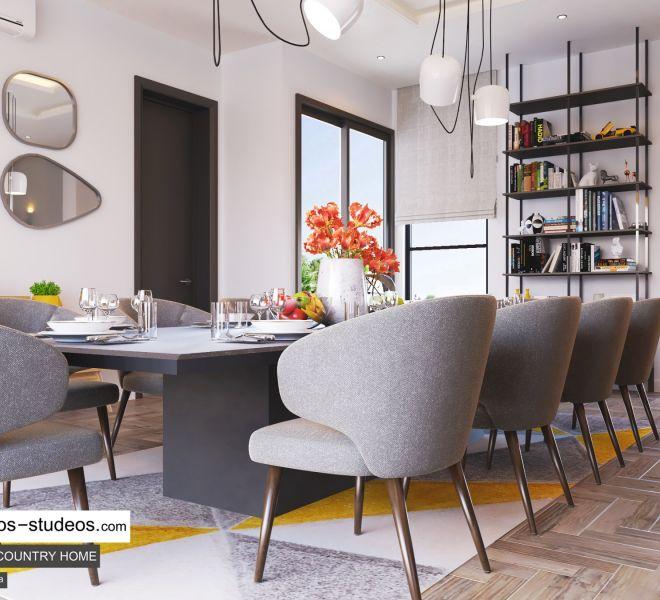 dining room area design by Chronos Studeos Architects interior designer in Lagos (2)