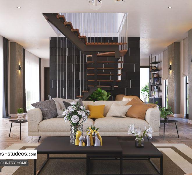 staircase design idea for modern home style in Lagos Nigeria Architects Chronos Studeos (1)