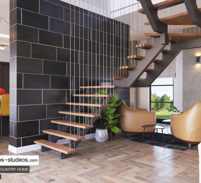 staircase design idea for modern home style in Lagos Nigeria Architects Chronos Studeos (2)