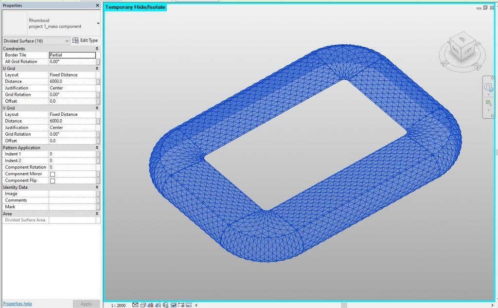 Allianz Arena - Parametric Modelling- Applying-curtain-panel
