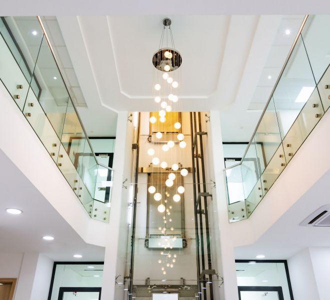 office reception interior design, prudent energy headquarters