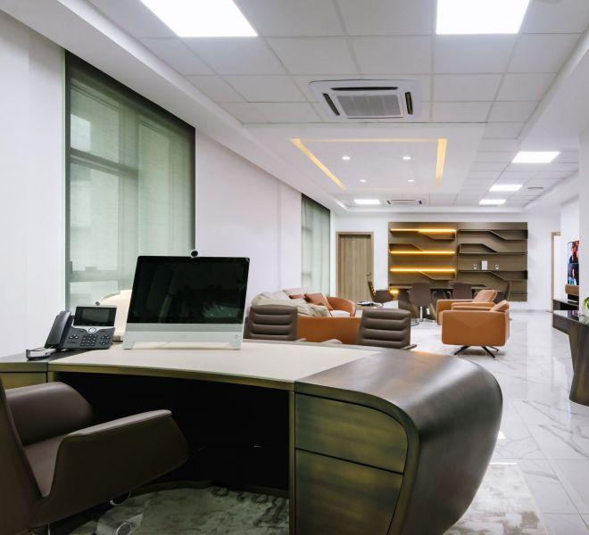 office reception ideas - prudent energy headquarters