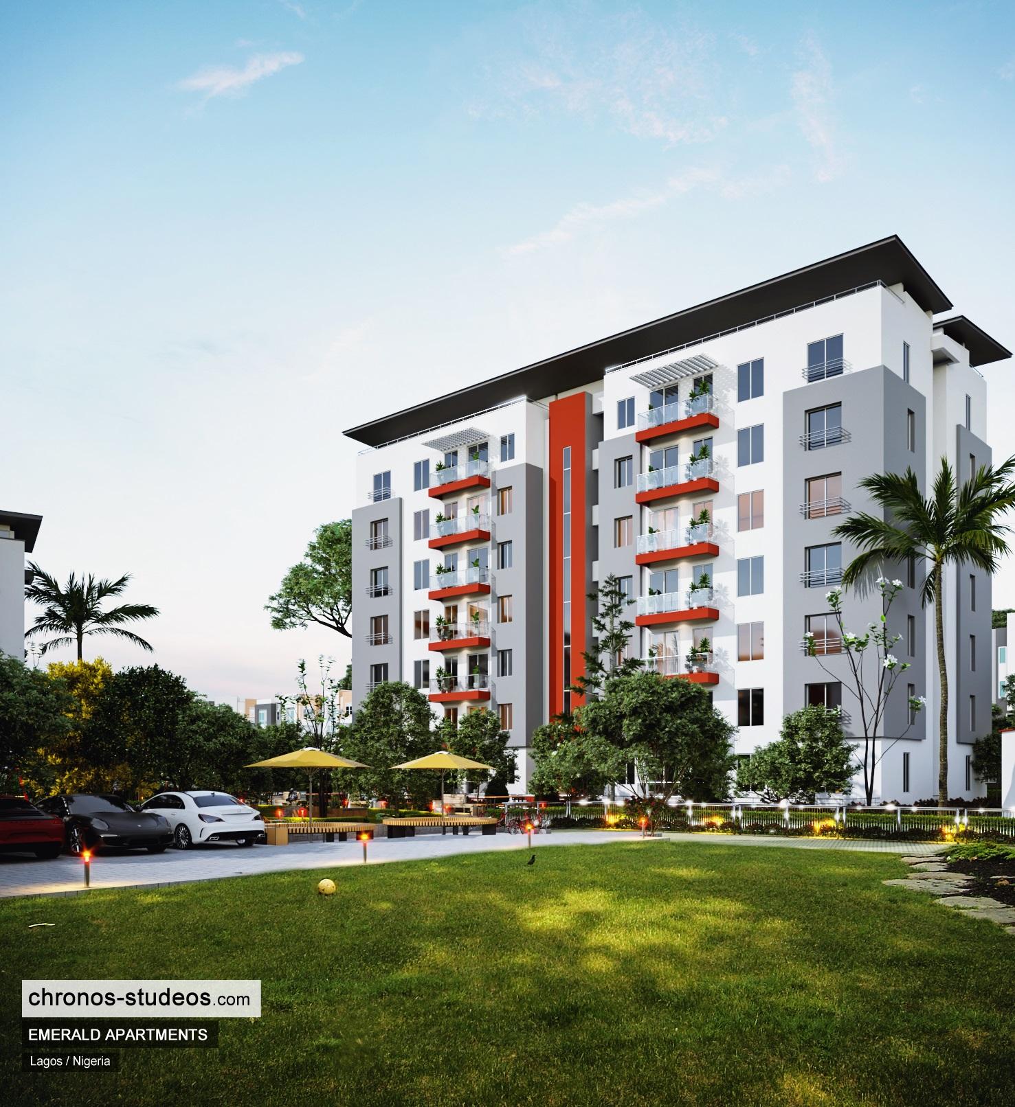 3D rendering Nigeria Chronos Studeos Emerald Apartments (3)
