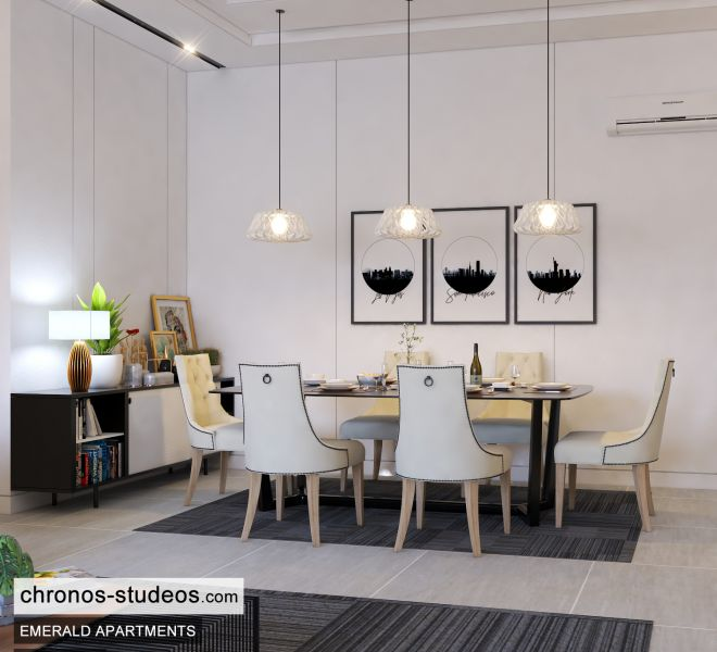 The Emerald Apartments Three bedroom Bedroom Design Ideas Chronos Studeos Architects (4)