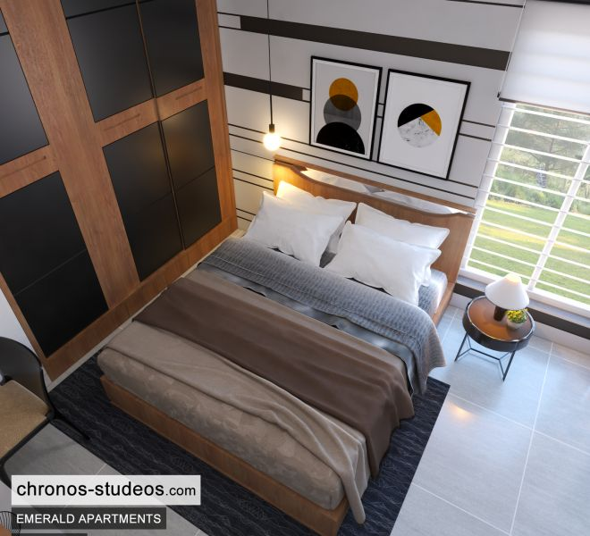 The Emerald Apartments Three bedroom Bedroom Design Ideas Chronos Studeos Architects (7)