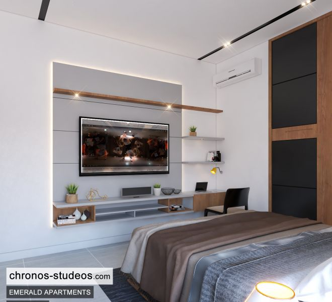 The Emerald Apartments Three bedroom Bedroom Design Ideas Chronos Studeos Architects (8)