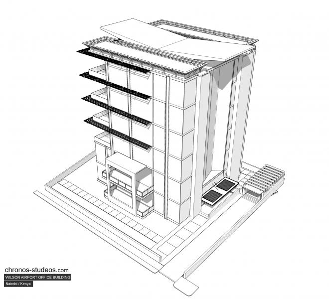 willson airport office building - schematic
